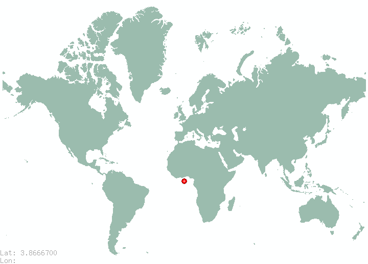 Yaounde in world map